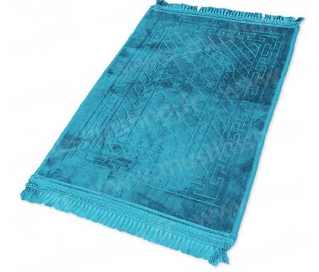 Tapis de luxe épais antidérapant et ultra-doux - Grande taille (80 x 120 cm) avec motifs Arabesque - Bleu turquoise