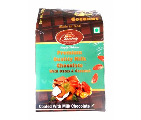 Datte Enrobé de Chocolat et de Noix de coco avec Amande 225gr