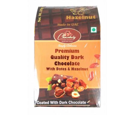 Datte Enrobé de Chocolat Noir avec Noisette 225gr