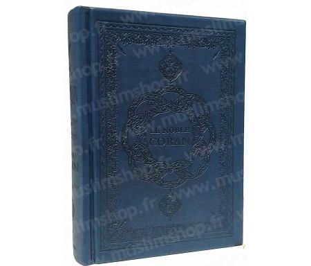 Le Saint Coran Arabe - Français - Phonétique (Format moyen) - Bleu marine