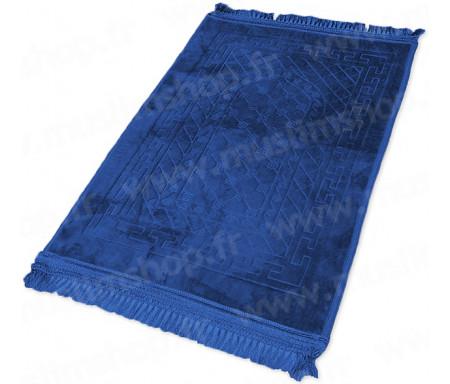 Tapis de luxe épais antidérapant et ultra-doux - Grande taille (80 x 120 cm) avec motifs Arabesque - Bleu nuit
