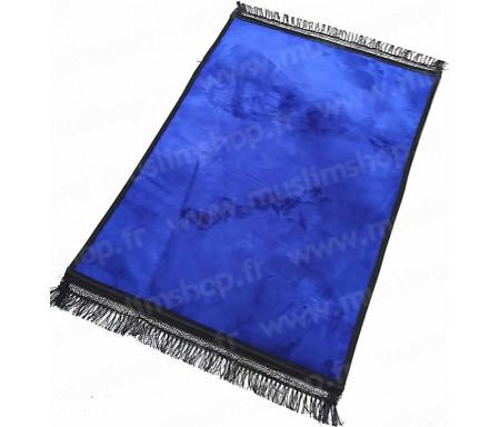 Tapis de luxe épais antidérapant et ultra-doux - Grande taille (80 x 120 cm) Uni et sans motif - Bleu