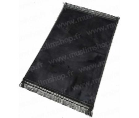 Tapis de luxe épais antidérapant et ultra-doux - Grande taille (80 x 120 cm) Uni et sans motif - Noir