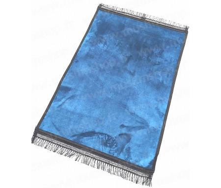 Tapis de luxe épais antidérapant et ultra-doux - Grande taille (80 x 120 cm) Uni et sans motif - Gris / Bleu ardoise