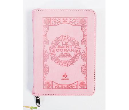 Saint Coran Français Pochette (11x15 Cm) - Couverture Rose claire