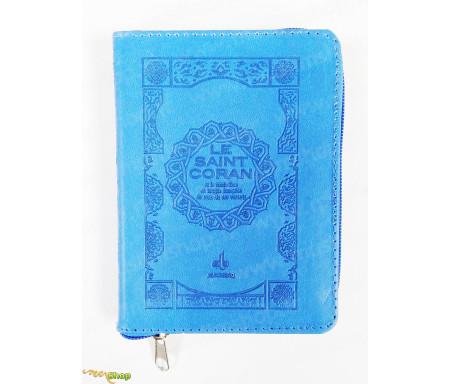 Saint Coran Français Pochette (11x15 Cm) - Couverture Bleu