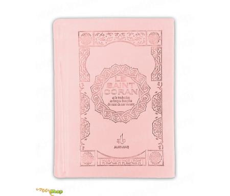 Le Saint Coran et la Traduction en langue française du sens de ses Versets (Bilingue) - Rose clair