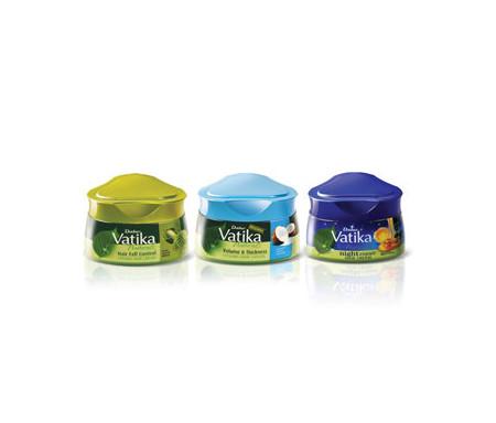 Lot de 3 x Crèmes pour cheveux Vatika Night Repair (Réparation de nuit) / Volume & Epaisseur à la Coco / Chute des Cheveux au Cactus - 420 ml