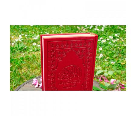 Le Noble Coran et la traduction en langue française de ses sens (Arabe-Français) avec Pages Arc-en-Ciel (Rouge)