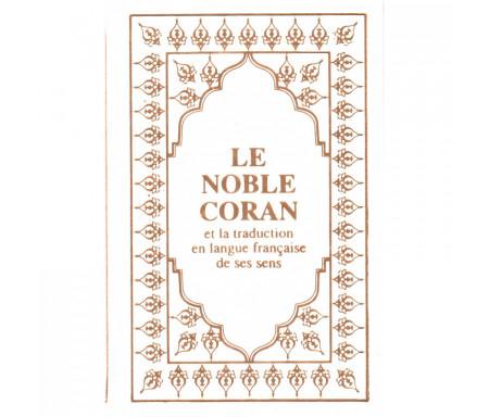 Le Noble Coran et la traduction en langue française de ses sens (Arabe-Français) avec Pages Arc-en-Ciel (Blanc)