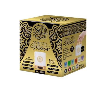 Veilleuse Coranique MP3 avec Affichage Digital, Horloge Azan, Lecteur Coran, Bluetooth et Télécommande - MQ-522A