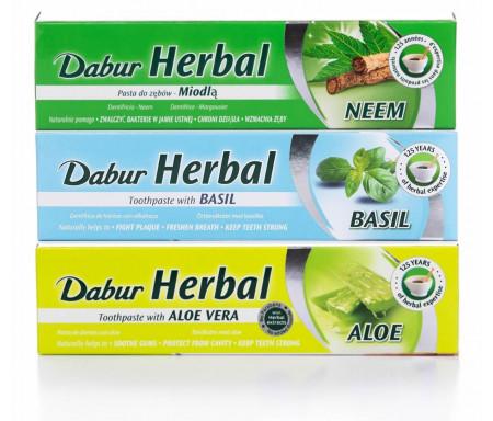 Pack 3 Dentifrices Herbal Charbon actif / Clou de girofle / Neem sans Fluor - 155gr