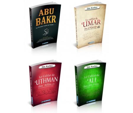 Pack 5 livres La biographie du prophète Muhammad (SAW) et des 4 califes bien guidés de l'islam (Abû Bakr, Omar, Ali et Uthmân) de l'imam Ibn Kathir