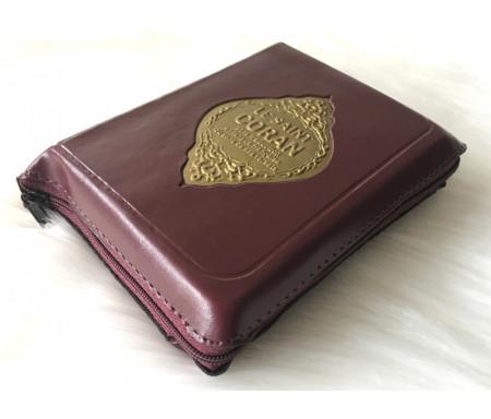 Le Saint Coran de poche bilingue (arabe-français) avec pochette fermeture zip (10 x 14 cm)