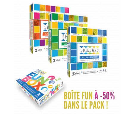 """Pack 4 Jeux """"5 Piliers"""" (Edition Sîrah / Edition Junior / Edition Piliers / Edition Boîte fun)"""