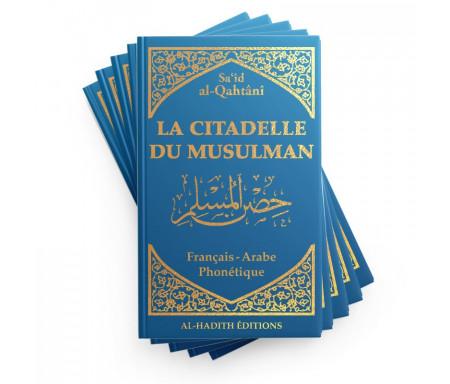 Pack : 5 x La Citadelle du musulman en Français / arabe / phonétique - Coloris Bleu