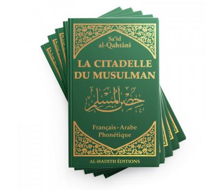 Pack : 5 x La Citadelle du musulman en Français / arabe / phonétique - Coloris Vert