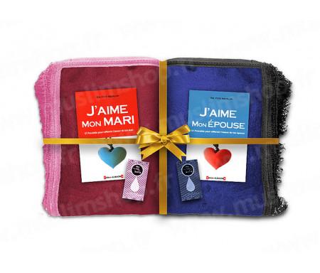 Coffret / Pack Cadeau Couple et Mariage avec Tapis et Parfums