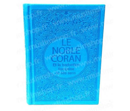 Le Saint Coran Arabe - Français (Format Poche) - Bleu clair