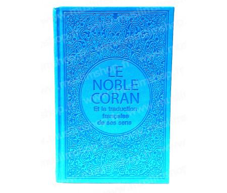 Le Saint Coran Arabe - Français (Grand Format) - Bleu clair