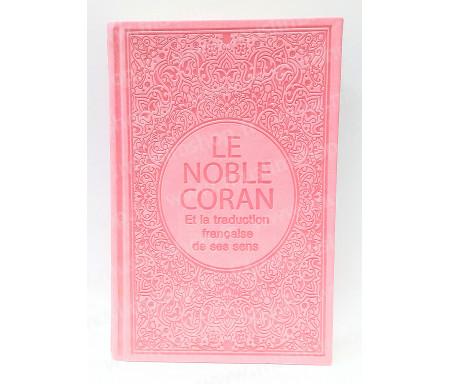 Le Saint Coran Arabe - Français (Grand Format) - Rose clair