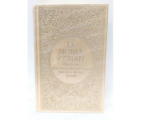 Le Noble Coran Rainbow Arabe - Français (Grand Format) - Beige