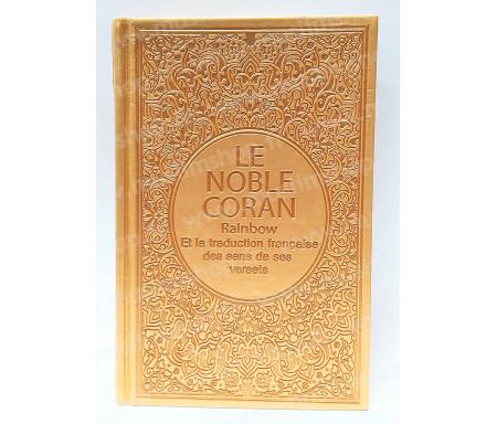 Le Noble Coran Rainbow Arabe - Français (Grand Format) - Dorée