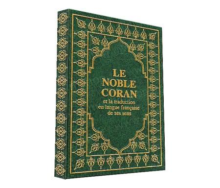 Le Noble Coran et la Traduction de ses sens (Relié cuir/ Format Moyen) - Arabe-Français