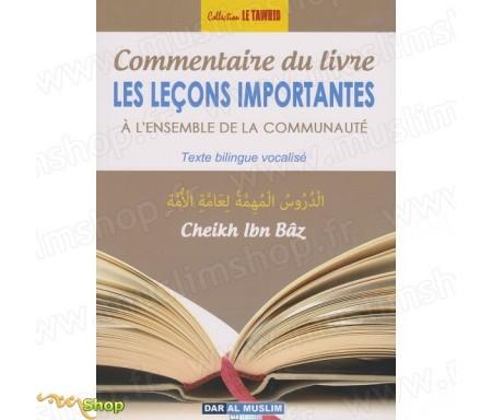 """Commentaire du Livre """"Leçons Importantes"""""""