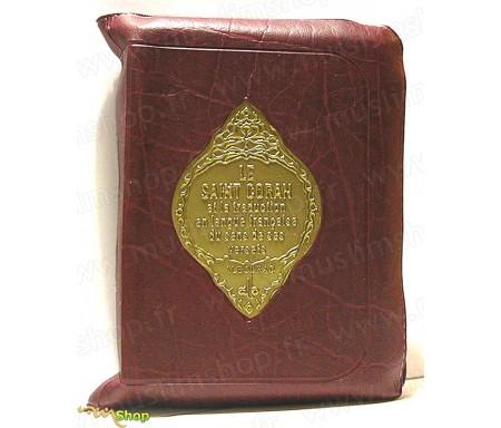 Le Saint Coran et la Traduction Française du Sens de ses Versets sous Pochette Zippée (Format Poche)