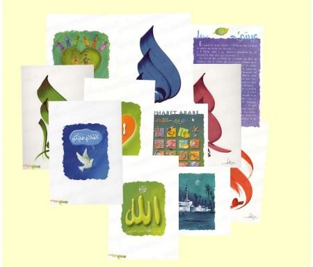 Lot de 5 Cartes Postales Al-Andalusi