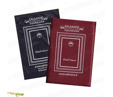 Tapis de Prière pour Voyageur Salmane - Format Poche avec son Etui - Sans Boussole