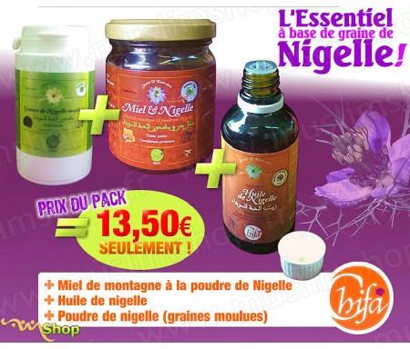 Coffret Chifa : Miel + huile + Poudre à Base de Nigelle