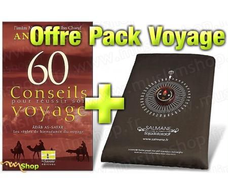 Pack Voyage - Tapis avec Boussole Intégrée + 60 Conseils pour Réussir Son Voyage