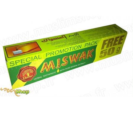 Dentifrice Miswak Dabur 170g (150g + 20gr Offerts) au Siwak