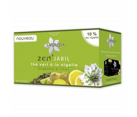 Thé vert Zen'Jabil à la Nigelle, Gingembre et Citron
