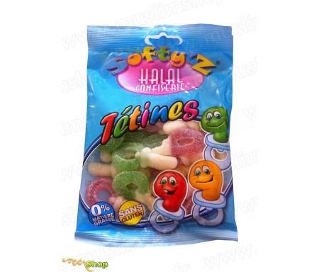 Bonbons Softy's Halal Confiserie - Tétines Acidulés (100g)