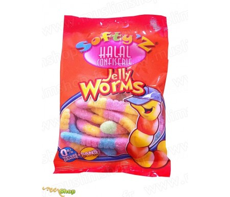 Bonbons Softy's Halal - Vers de Terre Acidulés (100g)