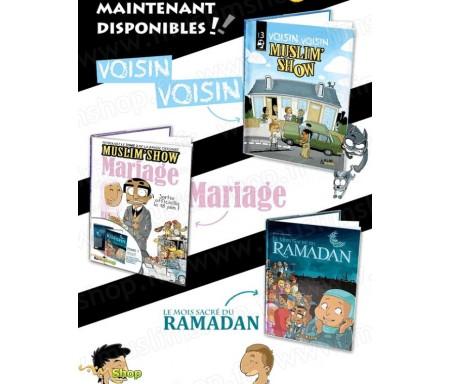 """Pack 3 BD MuslimShow - """"Mois Sacré du Ramadan, Mariage et Voisin-Voisin"""""""