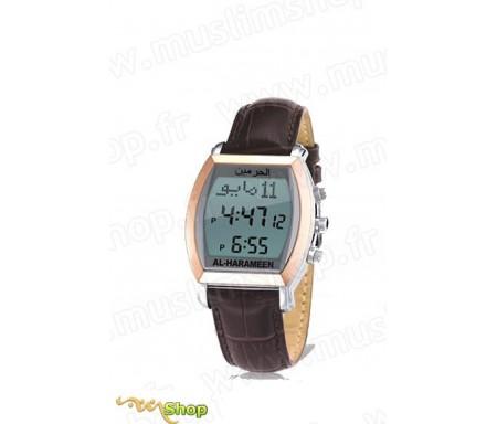 Montre avec horaires de Prières HA-6260 (Bracelet Cuir)
