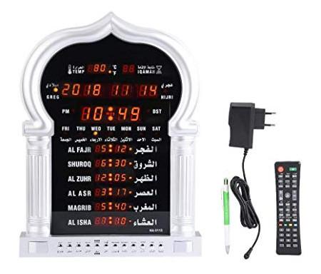 Horloge avec calcul automatique des horaires des prières (adhan pour les cinq prières) HA-5115