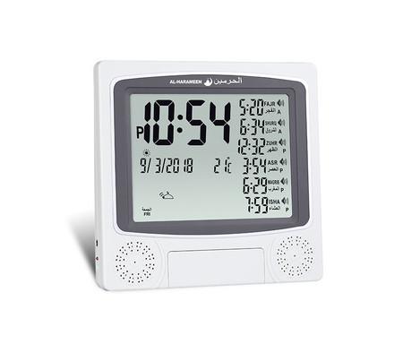 Horloge avec calcul automatique des heures de prières et adhan (appel à la prière pour les 5 prières) HA-4010