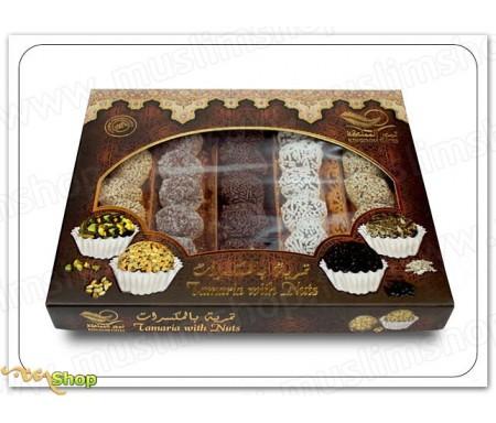 5 variétés de pâtes de dattes au chocolat, noix de coco et amande