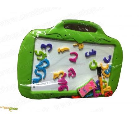Ardoise Magnétique avec Alphabet arabe + Feutre effaçable - News Enfants