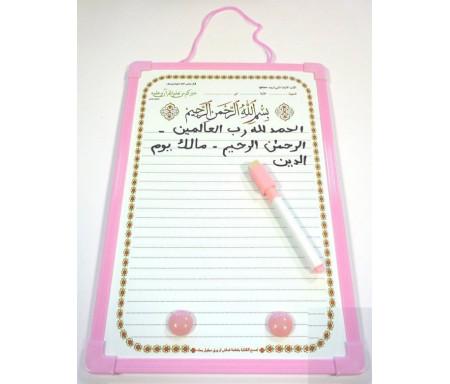Ardoise T1 - Petit format pour apprentissage du Coran et de la langue arabe (4 coloris) - News Enfants