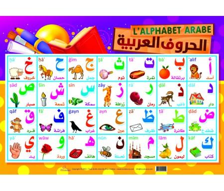 Poster l'alphabet arabe - الحروف العربية (arabe -