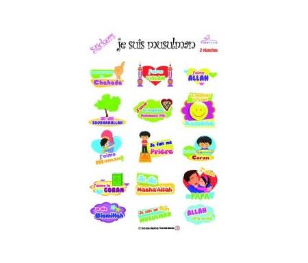 """Deux planches de stickers """"Je suis Musulman"""" - Rappels et invocations"""