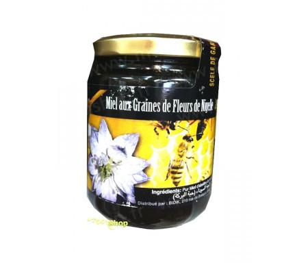 Miel aux graines de fleurs de nigelle 100%naturel