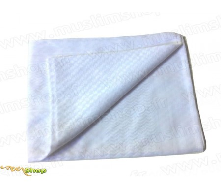 Grand foulard Palestinien (Keffieh) de couleur Blanc