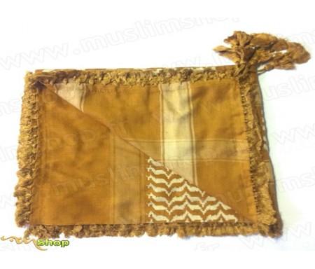 Grand foulard Palestinien (Keffieh) de couleur Jaune